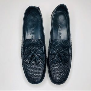 Cole Haan Navy Blue Leather Tassel Loafers 7.5 AA